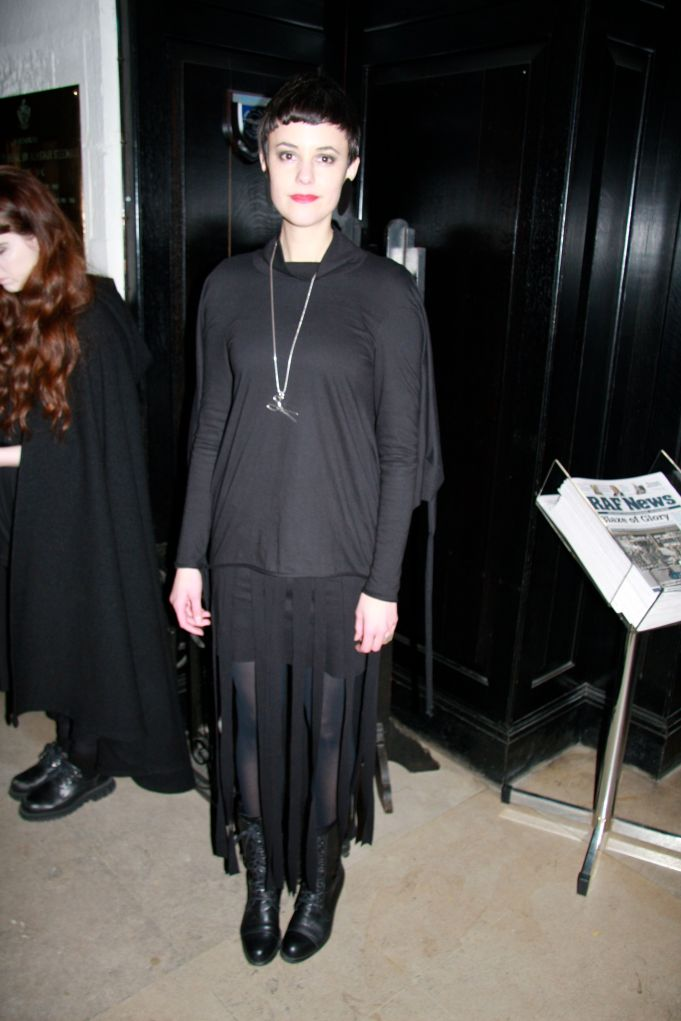 Alexandra Groover - wearing her own designs