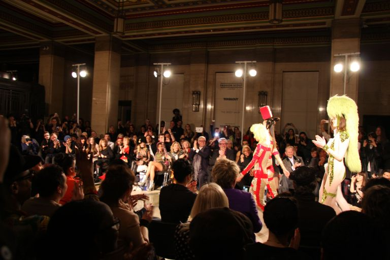 Pam Hogg takes a final turn with her models